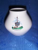Bodrogkeresztúri kerámia Miskolc emlék váza 9 cm (12/d)