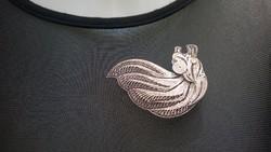 Filigrán szerelhető ékszer-bross-medál-kitűző 925-ös bagoly