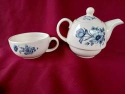 50 1 személyes porcelán teás készlet nagyon szép virág mintával egyben 15x10 cm
