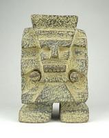 1B168 Tlaloc azték esőisten kerámia szobor 17 cm