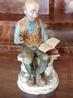 biszkvit mázatlan fajansz porcelán figura