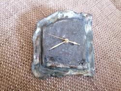 Egyedi kézműves kerámia óra, Junghans quartz óraszerkezettel, hibátlan állapotban!