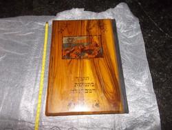 Judaika-héber nyelvű:biblia a Rembrandt képekben,olajfa
