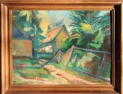 Barta István: Csendélet a (művész)telep kertjében,1929