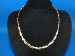 Arany kétszínű 14k Női  nyakék  12. gr