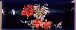 Eredeti Versace orchidea ékszer szett karkötő és fülbevaló