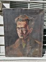Önarckép olaj-vászon festmény