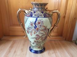 Japán Satsuma kerámia váza padlóváza kézzel festett 45cm