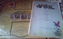 Retro Vuk képeskönyv retro Vuk bakelit lemezzel