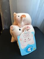 Piggy Wigs plüss malacok Poppy és Pansy 1989-ből hibátlan!