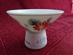 Japán porcelán gyertyatartó, magassága 4 cm.