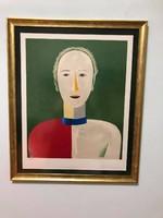 Kasimir Malevitch  - Portrait d'une femme / Portré egy Nőről/ Szignó , Szárazbélyegzők!!