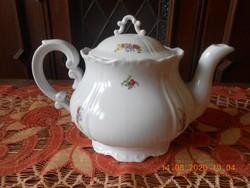 Zsolnay virágcsokor mintás tea kiöntő, teás kanna