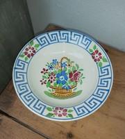 Gyönyörű Wilhelmsburgi   virágos tányér , falitányér nosztalgia szépség