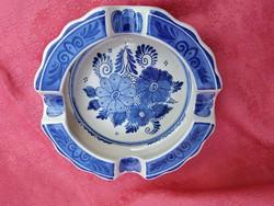 Holland Delft porcelán kék-fehér hamuzó