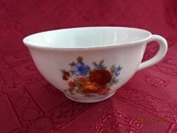 Drasche porcelain, teacup with flower pattern, top diameter 10 cm.