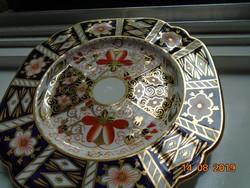 ÚJSZERŰ Royal Crown Derby antik opulensen aranyozott  IMARI mintás tál