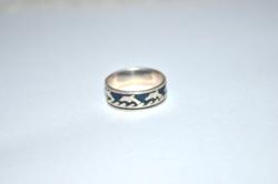 Delfines uniszex ezüst gyűrű