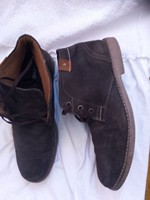 Hasított bőr cipő magasszárú férfi kifogástalan  mint az új  43 vastagabb melegebb béléssel