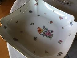 Fischer Emil antik porcelán tál, átlósan 29,5 centis