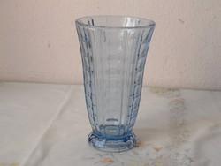 Art deco kék üveg váza