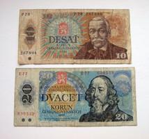 CSEHSZLOVÁKIA - 10 & 20 Korun - 1986 - 1988 - (2.)