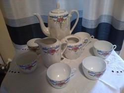Lüszter mázas cseh viktória teás készlet 1920-ból