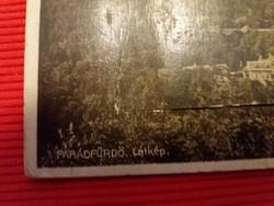 """Antik """"erszényes"""" fénykép sorozatot rejtő képeslap PARÁDFÜRDŐ ritka a képek szerint"""
