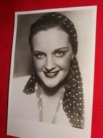 Antik 1942 Tolnai Klári portrés képeslap gyönyörű postatiszta gyűjtői állapotban Áldor fotó