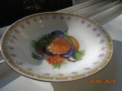 Birodalmi Royal OEPIAG kompótos tálka gyümölcs mintával,bécsi rózsás perem mintával