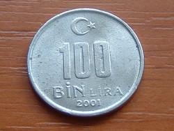 TÖRÖKORSZÁG 100 BIN 100.000 LÍRA 2001 #