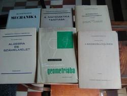 Főiskolai és egyetemi könyvek, matematika és fizika szakosoknak jelképes áron szerzőktől