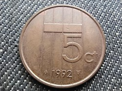 Hollandia Beatrix (1980-2013) 5 Cent 1992 (id31049)