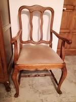 Neobarokk szék,karfás,faragott,antik,nagy,bútor