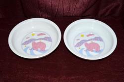 Alföldi elefántos gyerek mély tányérok  ( DBZ 0094 )