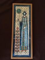 Vén Edit: A  király kerámia falikép