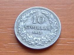 BULGÁRIA 10 CTOTINKI 1913 #