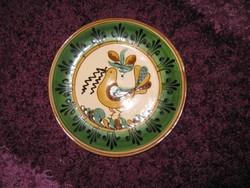Kerámia, tál tányér, madár mintás 23,5cm, 94.