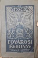 FŐVÁROSI ÉVKÖNYV  1939
