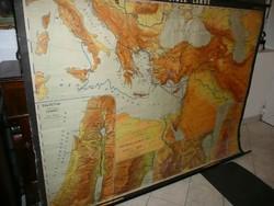 A Biblia földje - Óriási 220 cm* 165 cm méretű német Hermann Haack térkép