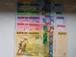 Uganda 1000-2000-5000-10000-20000-50000 shilling 2010 UNC