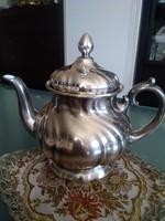 WMF vastagon ezüstözött porcelán 1,2 l teáskanna, klasszikus formával!