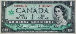 1 Kanadai Dollár 1967 UNC