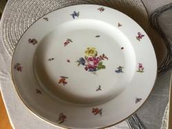 Fischer Emil antik porcelán tányér, 30 centis (204)