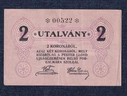 Magyarország Pester Lloyd Újságüzem 2 korona utalvány (id30010)