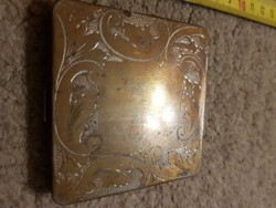 Púderes doboz, 7x7 cm, réz