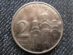 Szerbia Gracanica kolostor 2 dínár 2003 (id28304)