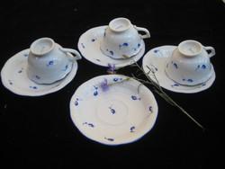 Herendi  Tertia  mokkás  három személyre  , egy tartalék  tányér