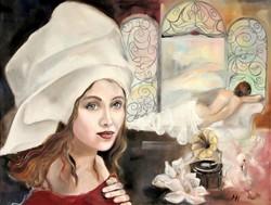 """Magony Henriett """" Szerafina ablaka"""" című festménye"""