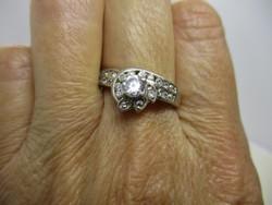 Szép régi antik hatású margaréta ezüst gyűrű